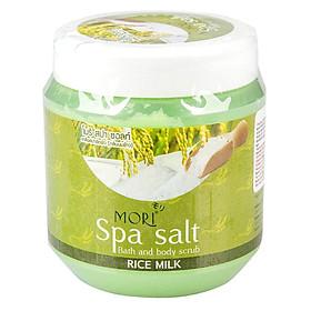 Muối Tắm Spa Mori Sữa Gạo Mori Spa Salt - Rice Milk (700ml)