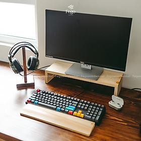 Kệ gỗ để màn hình máy tính, laptop cho bàn làm việc
