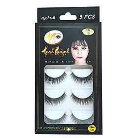 5 cặp lông mi giả dày và cong Natural & Soft Eyelash (số 12)