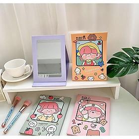 Gương trang điểm mini gấp giấy phong cách Hàn Quốc siêu đáng yêu - Hàn Tổng store.