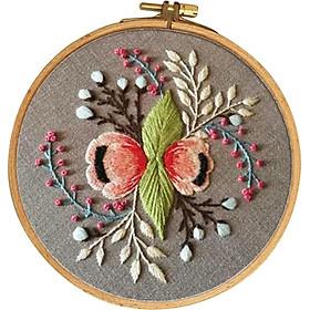 Bộ Dụng Cụ Vá DIY Với Thêu Thêu Cross Stitch Craft - Hoa Văn