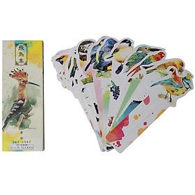 Hộp 32 Bookmark Đánh Dấu Sách Sáng Tạo Các Loài Chim