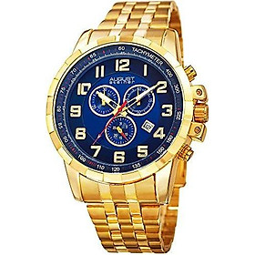 August Steiner Multifunction Men's Watch - 3 Subdials Swiss Chronograph with Date Window On Stainless Steel Bracelet - AS8118