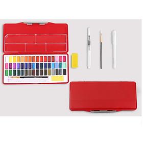 Bộ 48 Màu nước Giorgione chuyên nghiệp, hộp nhựa cao cấp, tặng kèm cọ vẽ, bút line trắng và khay pha màu.