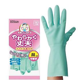 Găng tay cao su nhà bếp siêu mềm chính hãng Dunlop size M hàng nội địa Nhật Bản