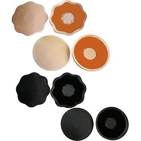 Miếng Dán Nhũ Hoa Vải (4 miếng màu da và đen hình ngẩu nhiên)