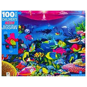 100-Piece Children's Neon Jigsaw: Neon Reef
