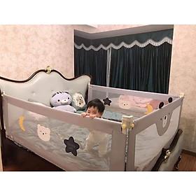 Thanh chặn giường cao cấp lắp ghép dễ dàng, thiết kế thông minh phù hợp mọi kích thước giường