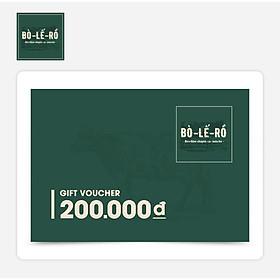 O Food - Phiếu Quà Tặng Bò Lế Rồ 200K