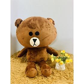 Thú bông Gấu browm đầu to 50cm