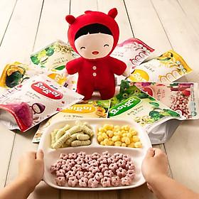 Thùng 8 gói bánh gạo ăn dặm cho bé Yummy Yummy vị khoai lang tím nhập khẩu Hàn Quốc
