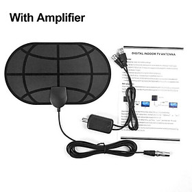 980 Miles 4K Digital HDTV Indoor TV Antenna with Amplifier Signal Booster TV Radius Surf  Style:With amplifier