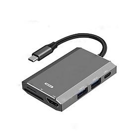 Hub chuyển đổi Remax RU-U30 6 in 1 cổng Type C ra USB 3.0 + HDMI + Đầu đọc thẻ nhớ - Hàng nhập khẩu