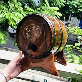 Bom chân đựng rượu vang - Màu gỗ