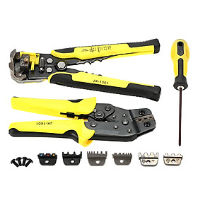 Hình đại diện sản phẩm Meterk Professional 4 In 1 Wire Crimpers Engineering Ratcheting Terminal Crimping Pliers Bootlace Ferrule Crimper Tool Cord End Terminals With Wire Stripper