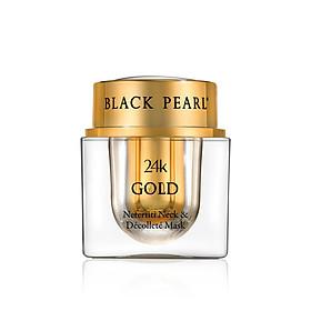 Mặt Nạ Vàng 24K Cho Vùng Cổ Và Vùng Trên Cổ Áo Black Pearl - 24k Gold Nefertiti Neck & Decollete Mask -  Có Nguồn Gốc Từ Biển Chết - Xuất Xứ Israel - Tăng Cường Kích Thích Tạo Ra Một Làn Da Sáng Hơn Và Thậm Chí Thay Đổi Tông Da
