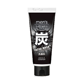 Sữa Rửa Mặt Dành Cho Nam Kosé Cosmeport Men's Softymo Facial Wash Wild Scrub 130ml