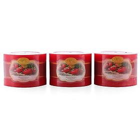Bộ nến thơm Hạnh Phúc 5 - Bộ 3 nến thơm D7H5 Miss Candle MIC0253 7 x 5 cm (Chọn mùi hương)