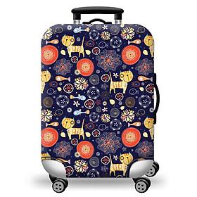 Túi bọc bảo vệ vali -Áo vỏ bọc vali - Mèo và Cá