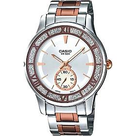 Đồng hồ nữ dây thép không gỉ casio LTP-E135RG-7AVDF