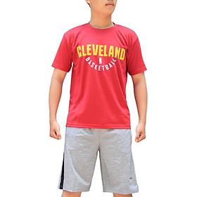 Áo thun bóng rổ NBA CLEVELAND  chất vải mè Thái thoáng mát, form slim fit nhưng thoải mái, tiện dụng cho việc mặc đi chơi thể thao hoặc mặc thường ngày - Hàng Chính Hãng