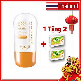 Combo Kem Chống Nắng MizuMi Không Thấm Nước SPF50+ PA++++ 30g Thái Lan + Tăm bông Ola 150 miếng Ba Lan