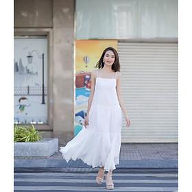 Đầm maxi cao cấp màu trắng
