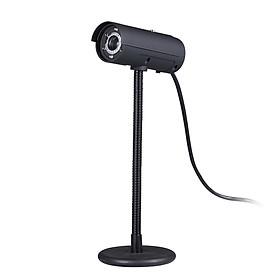 480P High-definition USB 2.0 Webcam with Microphone 6 L-ED Flexible Hose for PC Laptop Computer Desktop