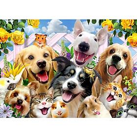 Tranh ghép hình 1000 mảnh giấy Happy Pet 50x75cm