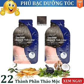 Thuốc nhuộm tóc, nhập khẩu Hàn Quốc, 3N-Màu Nâu Tự Nhiên (Đen tự nhiên), set 02 Gói, Mỗi gói 24g, bk bestke