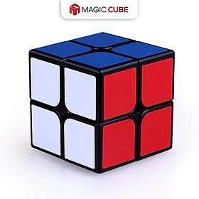 Đồ chơi ảo thuật: Rubik 2x2 3x3 4x4 5x5 Qiyi , Khối lập phương Rubic Màu đen Hình lá phong SPEED CUBE