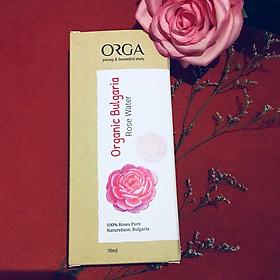 [COMBO 2 HỘP]Nước hoa hồng dưỡng trắng da ROSE WATER ORGANIC BULGARIA 70ML
