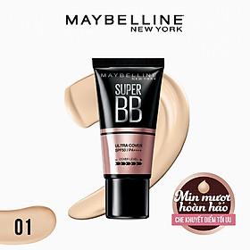 Kem Nền Maybelline Super BB Ultra Cream Cover SPF50 PA++++ 30ml Trang Điểm Hoàn Hảo PM711