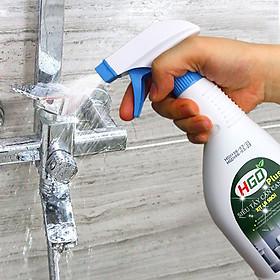 Siêu tẩy cặn canxi nhà tắm HGO Plus tẩy sạch vòi inox, vách kính, bồn cầu, lavabo. Chai 500ml