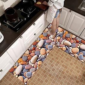 Bộ 2 miếng thảm bếp 3D chống trơn bám sàn - Kích thước 120x40 và 60x40