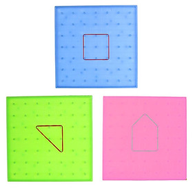 Plastic Nail Plate Primary Mathematics Nailboard Tool Educational Toy for Kids