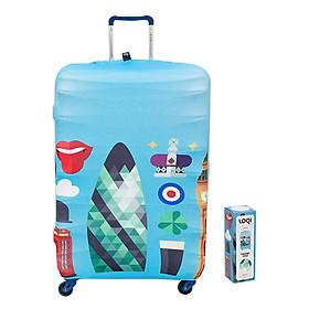 Túi Bọc Vali Hình London Loqi (58 x 65 cm)