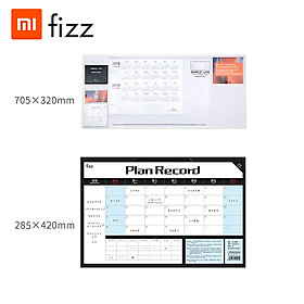 Xiaomi Youpin Fizz Time Management Notepad With Table Mat Efficiency Manual Weekly Tear Sticky Notes Desktop Memo Plan