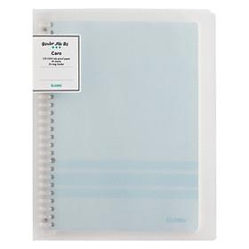Sổ Caro file nhựa kẹp B5 - 40 tờ; Klong TP544 màu xanh