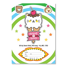 Lốc 10 Vở ô ly Smartkid Cao cấp 6 Sao - Chống lóa ( 48, 80 trang )