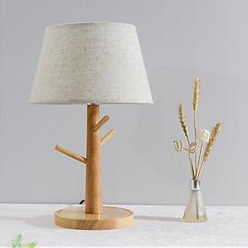 Đèn ngủ để bàn - đèn ngủ gỗ LANI bao gồm bóng LED chuyên dụng