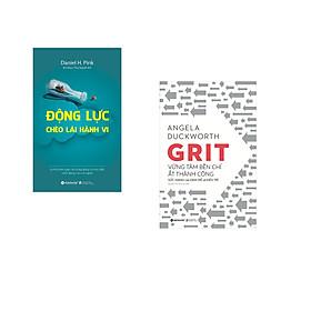 Combo 2 cuốn sách: Động Lực Chèo Lái Hành Vi + Grit Vững Tâm Bền Chí Ắt Thành Công