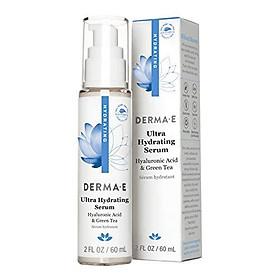 DERMA E Ultra Hydrating Serum with Hyaluronic Acid, 2oz