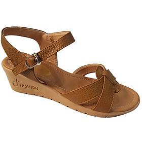 Giày Sandal Nữ Đế Xuồng BIGGBEN Da Bò Thật SDX25