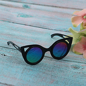 Cute Copper Frame Eyeglasses Sunglasses for 12'' Blythe Dolls Accessory -Black
