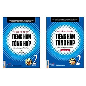Combo Giáo trình tiếng Hàn tổng hợp dành cho người Việt Nam – Sơ cấp 2 bản màu + sách bài tập (tặng kèm giấy nhớ PS))