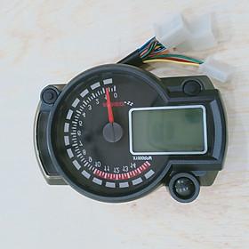 Đồng hồ điện tử RX2N gắn cho các loại xe máy cực chất 7 Màu Tùy Chỉnh, Báo tua máy. - G439