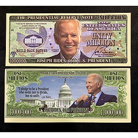 Tiền kỷ niệm 1 Triệu Dollar hình Biden tổng thống Mỹ lưu niệm