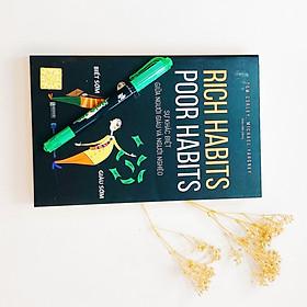 Combo Sách Rich Habits Poor Habits (Sự Khác Biệt Giữa Người Giàu Và Người Nghèo) - Và Bút Dạ Quang Thiên Long - Dùng Bút Đánh Dấu Đoạn Quan Trọng Để Giúp Việc Đọc Sách Hiệu Quả Hơn