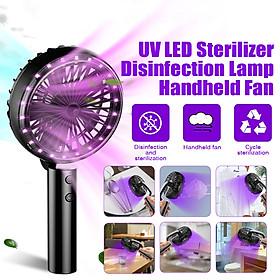 2020 New Handheld Fan & UV Sterilizer Fan Disinfection 2 IN 1 18 UV LED 3 Block Wind Power Adjustable USB Charging
